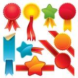 Set of colorful emblems royalty free illustration