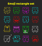 Set of colorful emoticons, emoji flat backgound pattern Stock Photos