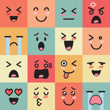 Set of colorful emoticons Royalty Free Stock Image