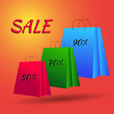 Set of Colorful Empty Shopping Bags. Illustration eps 10 Royalty Free Stock Photos