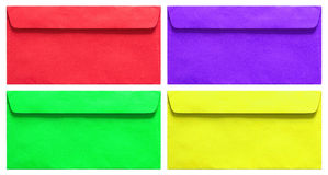 Set of colorful envelope isolated on white Stock Images