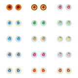 Set of colorful eye balls. Stock Photo