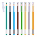 Set of colorful eye liners. Cosmetic pencils. Stock Photos