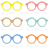 Set Of Colorful Eyeglasses Royalty Free Stock Images