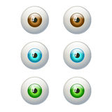 Set of colorful eyes. Brown, blue, green eye Stock Images