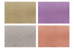 Set of colorful fabric texture isolated on white Stock Photos