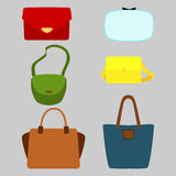 Set of colorful fashionably bags Royalty Free Stock Photography