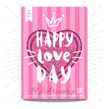Set colorful fast food posters. Colorful fast food card poster. Happy love day, pzza, heart, love, 14 february, Valentine`s Day, romantic, menu. Retro background Royalty Free Stock Photos