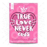 Set colorful fast food posters. Colorful fast food card, poster. True love never end, pzza, heart, love, 14 february, Valentine`s Day, romantic, menu. Retro Royalty Free Stock Photography