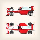 Racing cars on start line. Set of colorful fast motor racing cars on a start line Royalty Free Stock Images