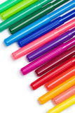Set of colorful felt tip pens isolated on white Royalty Free Stock Photos