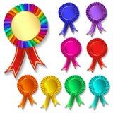 Of set of colorful festive medals. Illustration of set of colorful festive medals Stock Photo