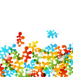 Set colorful figures stylized puzzle Royalty Free Stock Images
