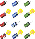 Set of Colorful Firecrackers Royalty Free Stock Image