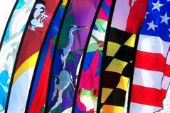 Set of colorful flags. A set of colorful flags Royalty Free Stock Photo