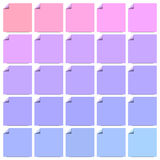 Set of colorful flat labels with curled corners Royalty Free Stock Image