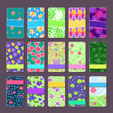 Set of Colorful Floral Bussiness Cards Royalty Free Stock Photo