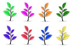 Set of colorful floral elements Royalty Free Stock Photo
