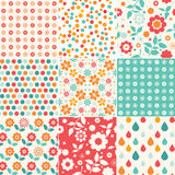 Set of colorful floral pattern Stock Photos