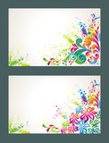 Set of colorful flower background. Stock Photography