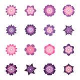 Set of colorful flowers,  illustration. Collection of colorful flowers,  illustration Royalty Free Stock Images