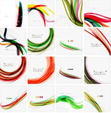 Set of colorful flowing motion abstract Stock Photo