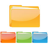 Set of colorful folder icon Stock Images