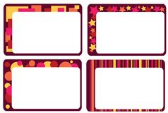 Set of colorful frames Stock Image