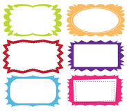 Set of colorful frames Royalty Free Stock Photography