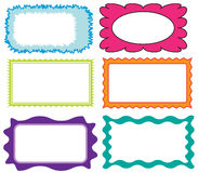 Set of colorful frames Royalty Free Stock Photo