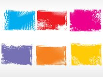 Set of colorful frames Stock Photography