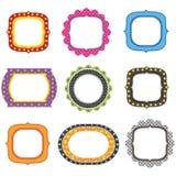 Set Colorful Frames Design. A Vector Illustration of Set Colorful Frames Design Royalty Free Stock Images