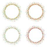 Set of colorful frames from dots, vector illustration. Collection of colorful frames from dots on white background, vector illustration Stock Illustration