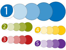 Set of Colorful Frames with Numbers. Vector - Set of Colorful Frames with Numbers Royalty Free Stock Photo