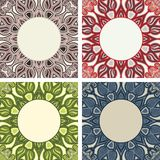 Set of colorful frames with oriental pattern Stock Images