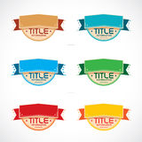 Set of Colorful Frames, Stickers, Labels, Icons, S Royalty Free Stock Images
