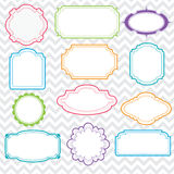 Set of Colorful Frames Royalty Free Stock Image