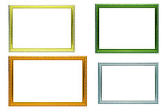 Set of colorful frames vintage style stock photos