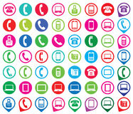 Set of colorful gadget icons. Stock Photo