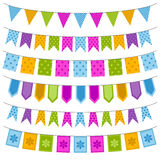 Set of colorful garland Stock Photography
