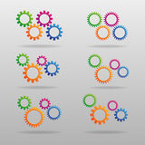 Set of colorful gears. Colorful gears for your design stock illustration