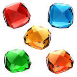 Set of colorful gems Royalty Free Stock Photography