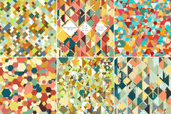 Set of colorful geometric backgrounds, abstract Stock Photography