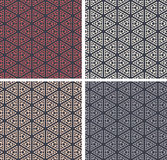 Set of colorful geometric pattern background. Royalty Free Stock Images