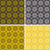 Set of colorful geometric pattern background. Royalty Free Stock Photos