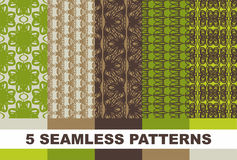Set of colorful geometric patterns. Vector Royalty Free Stock Photo
