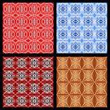Set of colorful geometric patterns in vintage style, art deco monoline ornament Stock Image