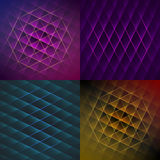 Set of colorful geometric shiny backgrounds Stock Photography