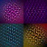 Set of colorful geometric shiny backgrounds Stock Photography