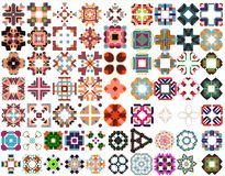 Set of colorful geometric symmetric shape. Vector illustration Stock Image